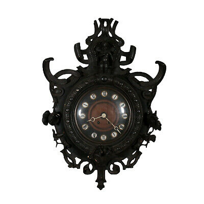 Wall Clock Neo-Renaissance Fir Late 19th Century