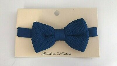 John Lewis & Partners Heirloom Collection Boys' Knitted Bow Tie / Dark Blue M/L