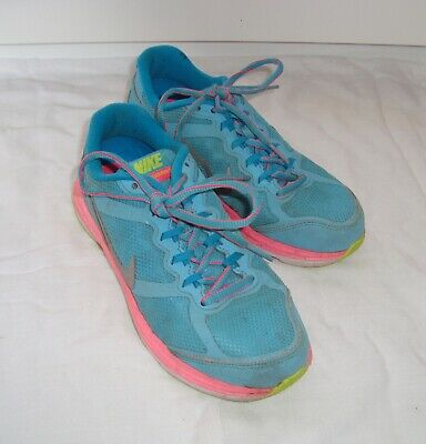 Nike Dual Fusion Run Trainers Turquoise Blue/Lime/White/Neon Pink- Uk 3 Eur 35.5