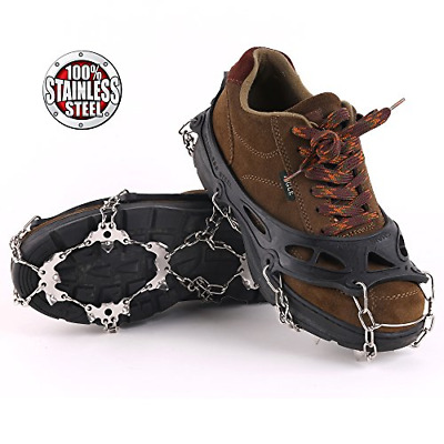 Vinqliq 19 Teeth Claws Micro Spikes Footwear Ice Traction System Crampons Shoes