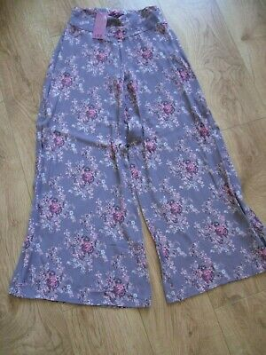 Girls 10-11 years matalan lilac flowery culottes trousers