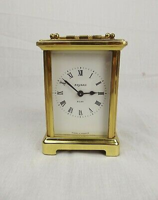 Bayard 8 Day Brass Migonette Carriage Clock