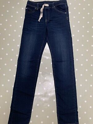 Gap Boys Pull-On Rib Waist Slim Dark Wash Jeans with Stretch XXL 13-14 BNIB