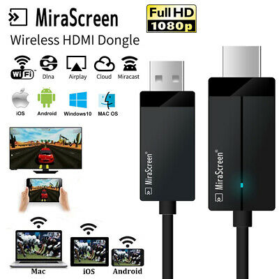 Streamer WiFi Display Receiver TV Stick HDMI Dongle HD Cable For Phone to TV