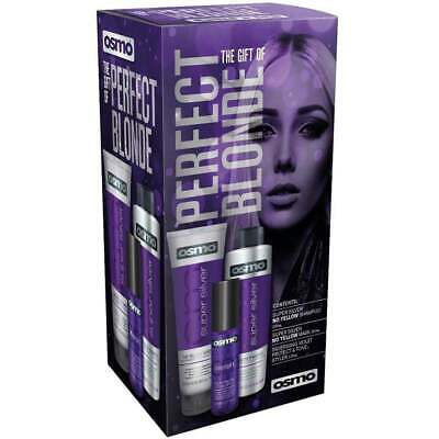 OSMO SUPER SILVER PERFECT BLONDE HAIR GIFT PACK SET shampoo mask tone styler