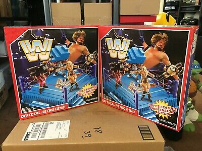 WWE Official MATTEL Vintage Retro Wrestling Ring NEW IN BOX Free shipping