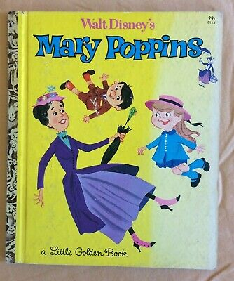 Lot Vintage Little Golden Book First A Edition Walt Disney Mary Poppins 29¢