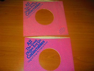 Vinyl record 45 rpm company sleeves - set of 2 Collectables VG+ condition
