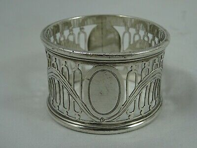 SMART solid silver NAPKIN RING, 1911, 31gm
