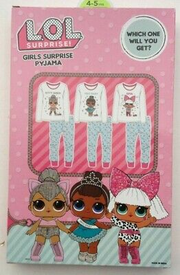 LOL Surprise which one will u get Girls Pyjamas Sleepwear Ages 4-5 9-10
