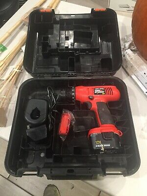 Black & Decker Fire Storm hp431 Drill 12v Battery w/Charger And Case!