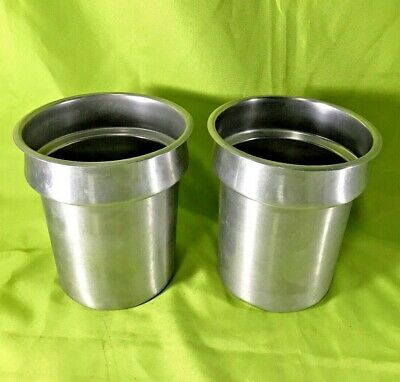 Commercial Vollrath Stainless Steel 4 Quart Insets No. 78164 Lot of 2