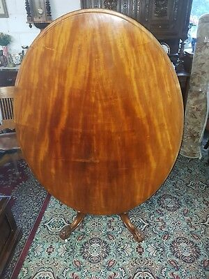 19th century victorian mahogany tilt top breakfast table Carved Will seat six