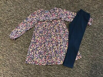 "Girls Next ""Floral"" Detailed Smock Dress And Leggings Outfit  Age 4 - 5 Years"