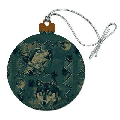 Andrew Schumann Pewter WOLVES Wolf Ornament Metal NEW OLD STOCK 1994 $20 Retail