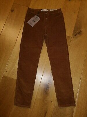 Girls Bnwt Zara Tan Cord Trousers Age 7