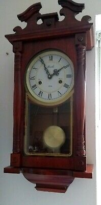 Lincoln Vienna Style 31 Day Wooden Wall Clock Striking Key Pendulum