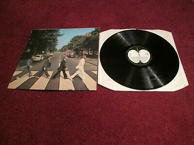 The Beatles Abbey Road Uk Press 1969 Ex+ Audio Laminated Cover Aligned Apple