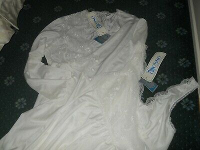 Altesse...lingerie Set...nightie And Robe /French Fabric......size 12....!