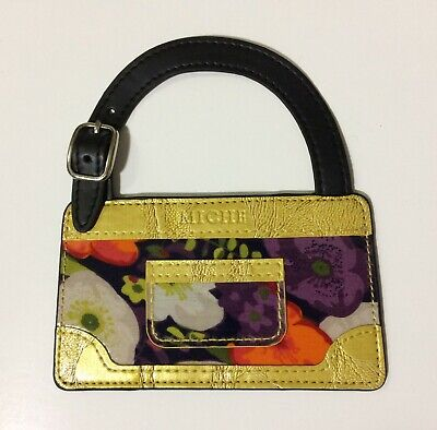 Miche Luggage Suitcase Identification Tag Floral Purse