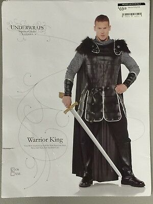 Warrior King Roman Mens Medieval Black Costume One Size Game Of Thrones Cosplay