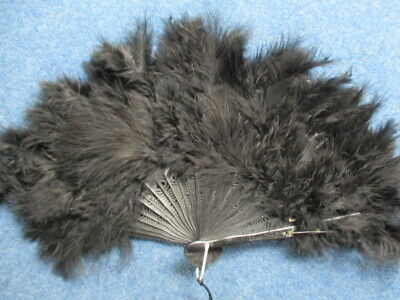 Burlesque Black Feather Fan  Peaky Blinders