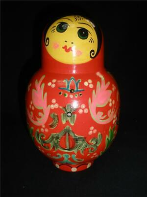 Fabulous Russian Hand Painted Crafted Wooden Babuschka Doll Set 8 Pce.russia