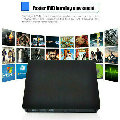 3.0 External CD USB Drive Portable CD DVD +/-RW Slim DVD/CD Rom Rewriter Burner