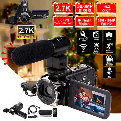 1080P HD WiFi 30MP 16X ZOOM Digital Video Camera Camcorder DV Night Vision