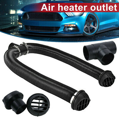 60mm/2.36in Heater Pipe Ducts Vent Outlet Hose Clips Air Ducting T Heater Pipe