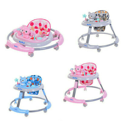 Baby Walker First Step Push Along Bouncer Activity Musical Toys Kids Xmas Gifts