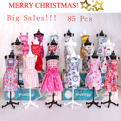 85pcs/Set For Barbie Doll Dresses Shoes Jewellery Clothes Accessories Gift Set