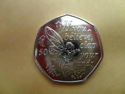 Peter Pan 50p -  Uncirculated . Tinkerbell coin - 'If you believe...'