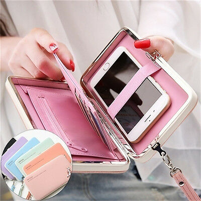 Women Lady PU Leather Wallet Purse Long Handbag Clutch Box Phone Bag Card Holder