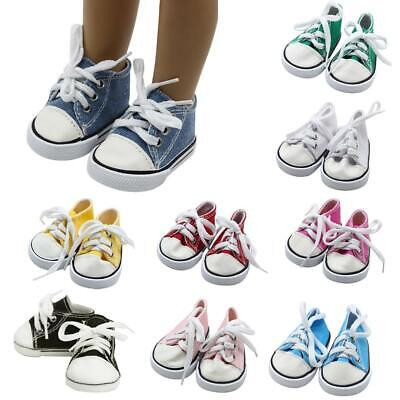 """Doll Clothes fits American Girl Hot 18"""" Canvas Sneakers Gym Shoes Accessory US"""