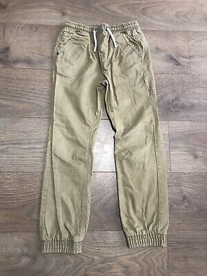 Next boys brown trousers age 10 years elasticated waist F387
