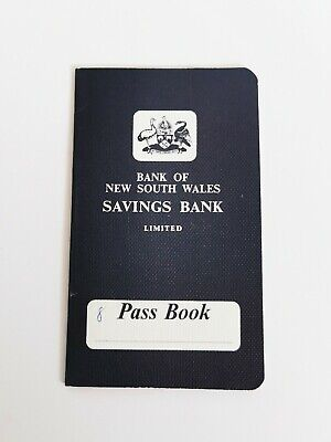 Bank Of New South Wales Savings Bank Pass Book Vintage Banking Memorbillia