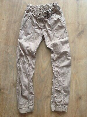 Next Girls Brown Trousers Age 6 Years Belted Adjustable Waist D208
