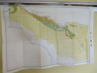 "1901 Antique Black Alkali Map Caldwell Idaho Nampa Roswell  30 X 21"" #8523"