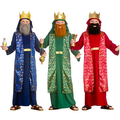 Child WISE MAN School Play Nativity Costumes Men Kids Wiseman King Outfit Fancy