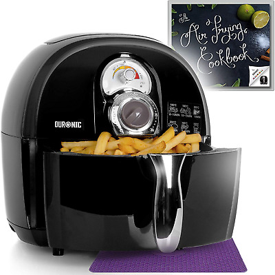 Duronic Air Fryer AF1 /B BLACK| Oil-Free & Low-Fat Healthy Cooking | Mini Oven |