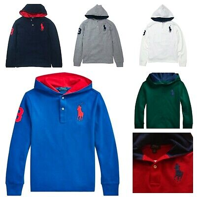 Genuine Boys Ralph Lauren Polo Big Pony Long Sleeved Hoodie Top 2 - 16  RRP £65
