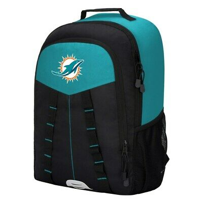 Miami Dolphins Backpack Nfl Authentic Official Team Logo Scorcher Bookbag New