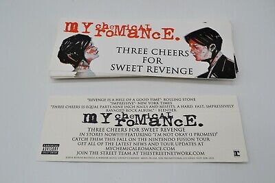 Lot Of 38 My Chemical Romance Three Cheers For Sweet Revenge Promo Sticker