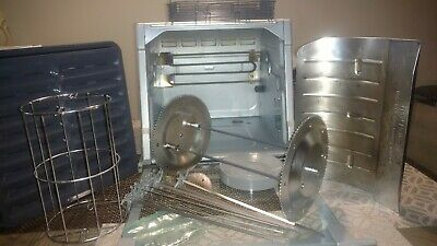 Ronco Showtime Rotisserie 5000 Platinum Digital w/Rib basket, skewers + more.