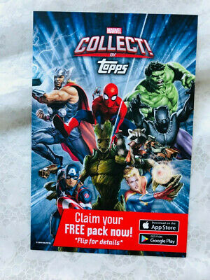 NYCC 2019 Topps Marvel Pack  EXCLUSIVE - Digital Code Cards