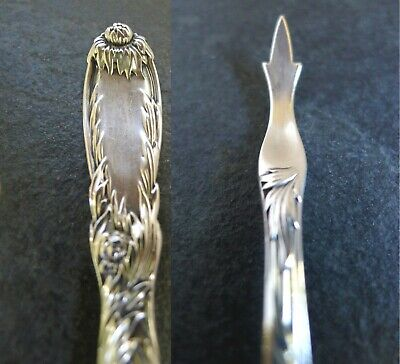 Rare Tiffany & Co Sterling Crysanthemum Lobster/Nut Pick Antique 1880 5 3/4 inch