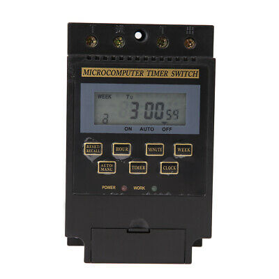AC 220V LCD Microcomputer Timer Switch Programmable Controller KG316T *DC