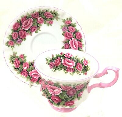 Vintage Royal Albert Rosa Teacup & Saucer Fragrance Series England Bone China