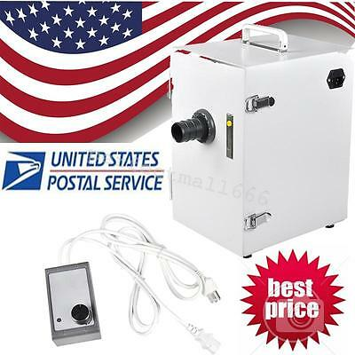 US  Dental Lab Digital Single-Row Dust Collector Vacuum Cleaner 370W for Dentist